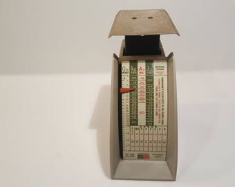 Vintage Scale // Hanson Postal Scale Model 1546 from 1968 // 2 LB Capacity // Vintage Industrial Office Supply