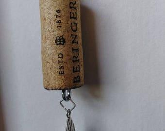 Leaf Cork Keychain