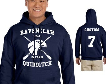 Harry Potter Hoodie - RAVENCLAW Quidditch Hoodie - CUSTOMIZED RAVENCLAW Hoodie - Hogwarts Clothes - Men's Hoodie - Women's Sweatshirt