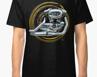 Harley Davidson Sportster 1200 inspired Motorcycle engine T Shirt INISHED