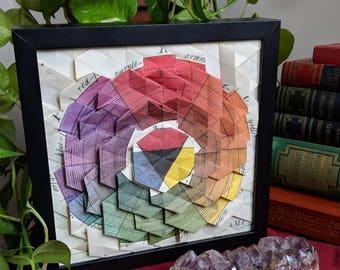 Color Wheel Origami Tessellation Lightbox