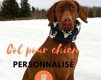 Custom dog neck warmer, dog scarf, neck warmer, dog accessory, dog neck scarfdog scarf, buck head scarf, Go wouf, dogs accessories
