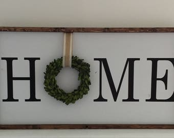 Home Handcrafted Wood Sign| Large Home Wood Sign| Farmhouse Sign| Above Door Home Sign| Fireplace Mantel Wood Sign