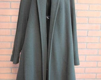 Green army coat-MOHAIR-Vintage