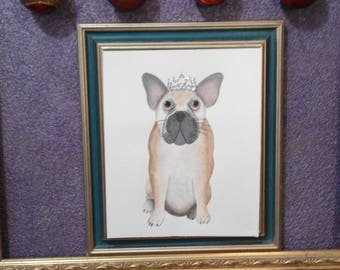 Nursery Digital Print With A Pug