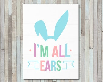 Bunny Cut File, Easter SVG Cut Files, Cricut Easter File, Easter Cut Files, Magnolia Market Cut File, Stencil, Print, Cuttable, Sign, DXF