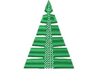 Christmas Tree Cross-Stitch Machine Embroidery Design, Christmas Embroidery
