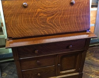 Antique Oak Secretary Desk