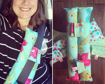 Seatbelt pillows - Mastectomy Breast Cancer Cushions for post-surgery comfort - port, Pacemaker heart surgery, c-section, car travel pillow