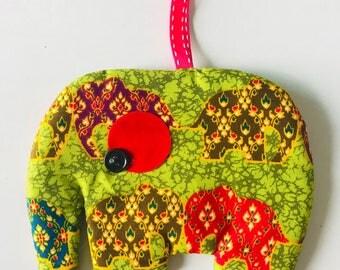 Elephant fabric purse