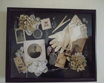 Vintage Victorian Shadow box