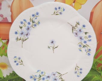 Vintage China Shelley Blue Rock Dessert / Side Plate
