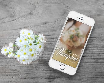 Gold Diamond Wedding Snapchat Geofilter
