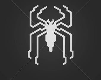 Spiderman svg file Spiderman logo spider svg superheroes svg  logo svg Superhero cut  superhero logo  cricut silhouette cutting file