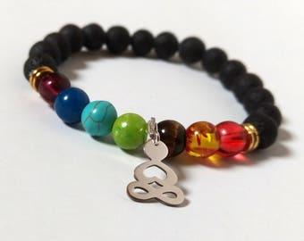 reiki jewelry,Multicolor,Chakra healing,mala bracelet,mala beads,Buddha Silver Charm,vegetarian,saint,7 Chakra Bracelet,balance