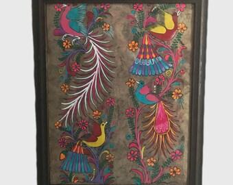 Birds garden-papel amate