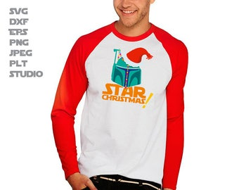 Starwars Christmas SVG  Star wars T-Shirt idea SVG for Cricut and Cameo Christmas Clone Starwars Character DXF