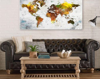 Colorful World Map Etsy - Colorful world map
