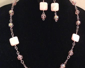 Sweetheart Necklace and Earrings Set