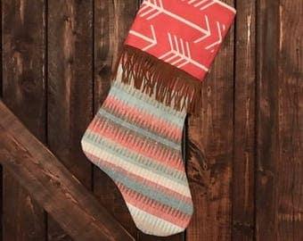Boho Fringe Christmas Stocking
