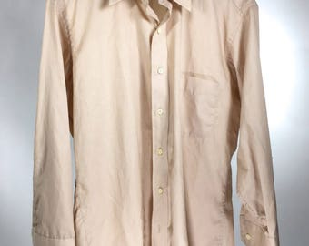 Sears Signle Needle Tailoring Mens Button Down Dress Shirt