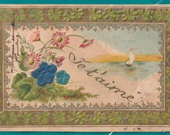 France 1904 Je Taime card