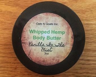 Vanilla In The Mist Whipped Hemp Body Butter