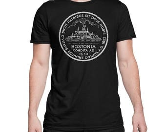 Boston City Seal Shirt Vintage Bostonia Tee
