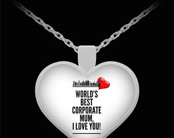 WORLD'S BEST Corporate Mum! Silver Plated Necklace
