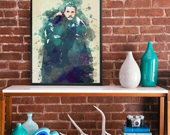 John Snow Kit Harrington Game of Thrones art poster