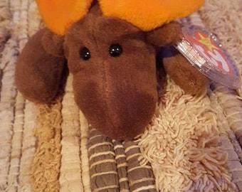 Chocolate the Mooooose Beanie baby 1993