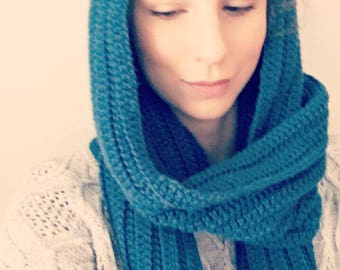 Crocheted Hooded Scarf