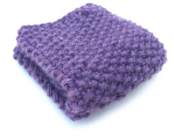 Washcloth, Dishcloth, Knit Washcloth, Knit Dishcloth , Facecloth, knit facecloth, Purple Washcloth, purple facecloth, cleaning cloth