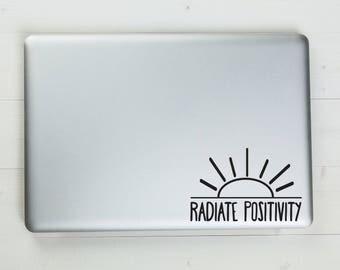 Radiate Positivity Vinyl Sticker Decal