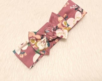 Mauve Topknot Headband