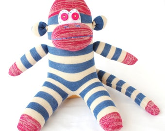 Sock Monkey Toy Doll - The Savvy Monkey
