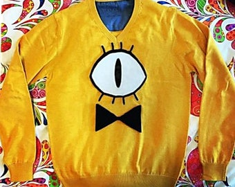 Gravity Falls Bill Cipher Cosplay Sweater Iron-On Patches Applique