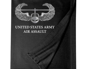 US Army Air Assault Embroidered Blanket-7250