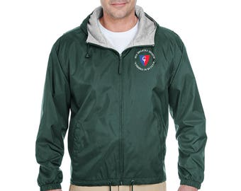 38th Infantry Division Embroidered Fleece-Lined Hooded Jacket-7432