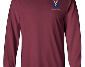 196th Light Infantry Brigade Long-Sleeve Cotton Shirt-8634