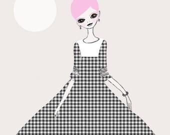 """Janet Spiegel """"Pink Print"""" Giclee"""