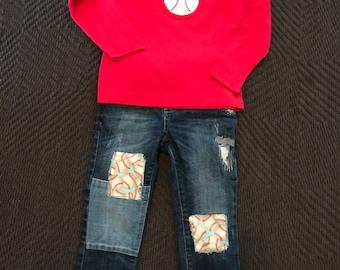 Custom Baseball Jeans 18m-5T