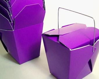 100 Purple Favor Boxes Chinese Take Out Boxes Gift Favors Birthday Anniversary Bridal Wedding Plum Shower Halloween Wholesale Dark Superhero