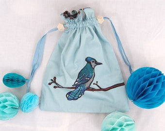 The blue jay purse : Ready to sew kit