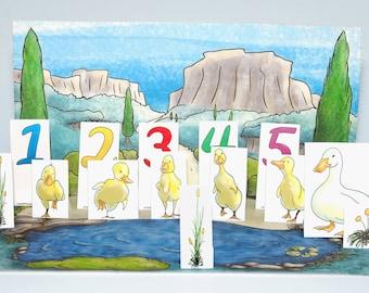 Paper City - 5 Little Ducks Nursery Rhyme