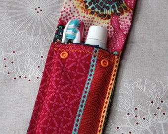 Toothbrush and toothpaste pouch