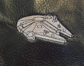 Millenium falcon machine embroidery design.  Star wars!