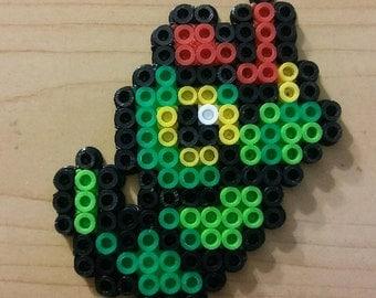 Caterpie Perler Bead Magnet