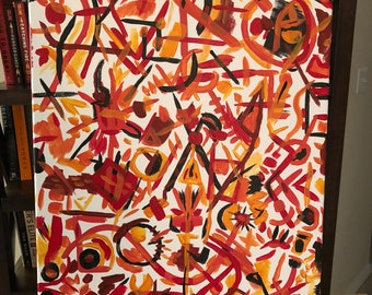 Abstract Fire   Acrylic on Canvas   20 X 16