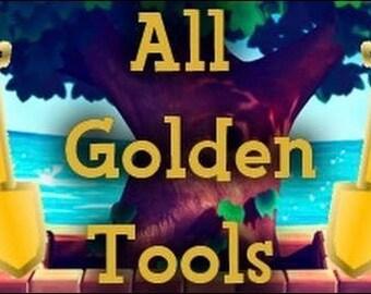 Complete Animal Crossing Golden Tool Set